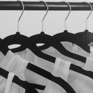 12 Velvet Hangers Gives More Closet Space (Bundle)